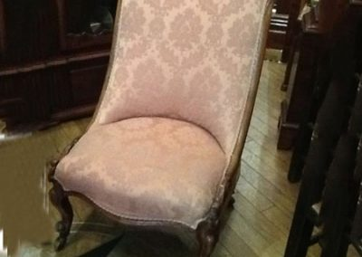 Victorian walnut nursing chair