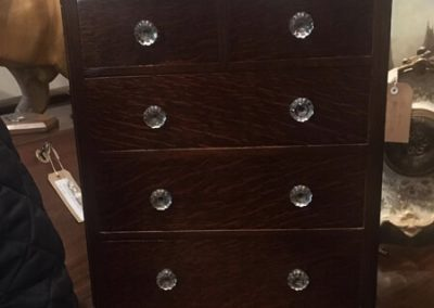 five drawer mahogany chest